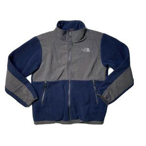 The North Face Large 14/16 Blue Gray Fleece Jacket